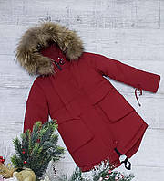 Зимняя куртка 2031 на 100% холлофайбере размеры от 116 см до 140 см рост, фото 1