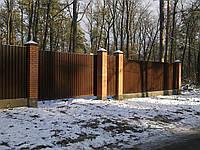 Ворота откатные сдвижные из профнастила