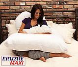 Подушка для вагітних Maxi Exclusive, в комплекті наволочка 2-стороння - Жовтий.візерунки+жовтий.точки, фото 9