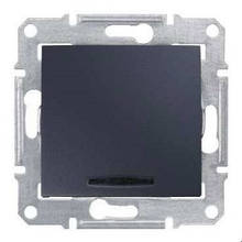 Выключатель 1- кл с подсветкой Графит Sedna SDN1400170