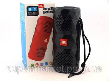JBL TG-167 портативная MP3 колонка 10W копия, bluetooth USB и MicroSD, черная