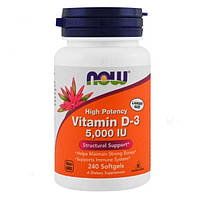 Now Foods Витамин Vitamin D-3 High Potency 5000 IU, 240 капсул