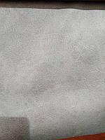 Меблевий флок мокрий флок антикоготь імітація шкірозамінника колір срібло 6166, фото 1