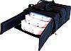 Термосумка для доставки пиццы черная застёжка молния, фото 2