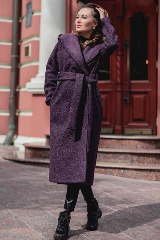 Длинное женское пальто Мариз божоле