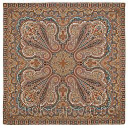 Восточное путешествие 1566-16, павлопосадская шаль хлопковая без бахромы