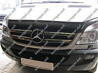 Хром Накладки на решетку (нерж.) Mercedes Sprinter (2006 - ...), фото 1