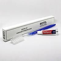 Зубной набор (щетка+паста 3г) в п/е и картонной  коробочке (от 100 шт.)