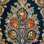 Волшебница 992-10, павлопосадский платок (шаль) из уплотненной шерсти с шелковой вязанной бахромой, фото 5