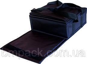 Термосумка для доставки пиццы черная застёжка липучка, фото 2