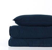 Комплект постельного белья SoundSleep Stonewash Adriatic dark blue синий Двуспальный евро комплект