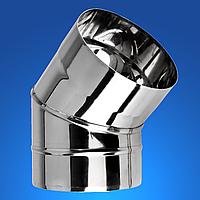 Колено 45° дымохода из нержавеющей стали STANDART MONO STALAR  (одностенная) AISI 304, 1.0 мм ДЫМОХОДЫ АДС