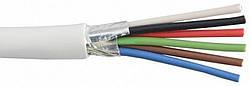 Сигнальный кабель EUROSAT 6x0.22 CU в экране белый