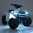 Дитячий електромобіль Квадроцикл M 3893 L-6, SATAIC, Шкіряне сидіння, музика, жовтий, фото 5