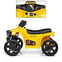 Дитячий електромобіль Квадроцикл M 3893 L-6, SATAIC, Шкіряне сидіння, музика, жовтий, фото 2