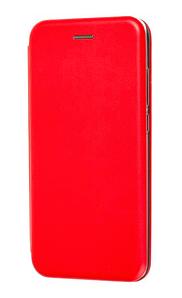 Чехол (книжка) премиум для Xiaomi MI 9  lite красная