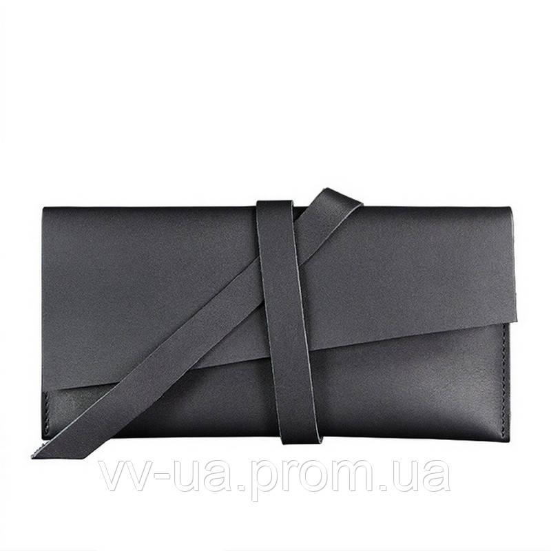 Тревел-кейс BlankNote 1.2 Графит, черный (BN-TK-1-2-g), кожа