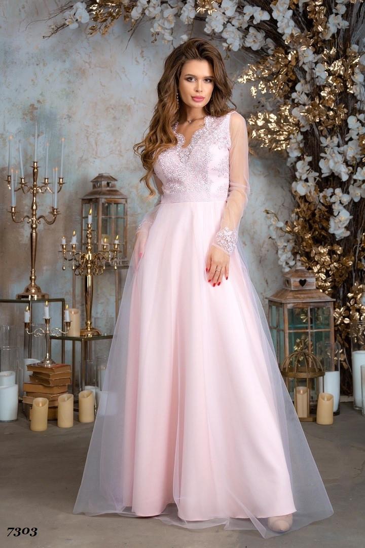 Платье в пол, вечернее, гипюр, габардин, сетка  42,44,46