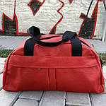 Женская спортивная сумка дорожная сумка из искусственной кожи Красный, фото 3