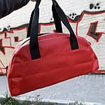 Женская спортивная сумка дорожная сумка из искусственной кожи Красный, фото 4