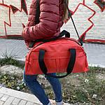 Женская спортивная сумка дорожная сумка из искусственной кожи Красный, фото 5