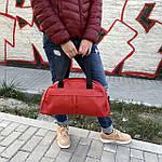 Женская спортивная сумка дорожная сумка из искусственной кожи Красный, фото 7