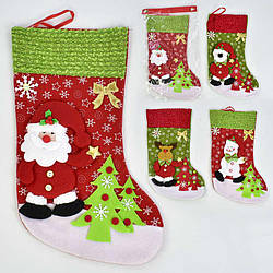 Новогодний носок для подарков 4 вида - 185327