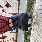 Женская спортивная сумка дорожная сумка из искусственной кожи Черный, фото 8