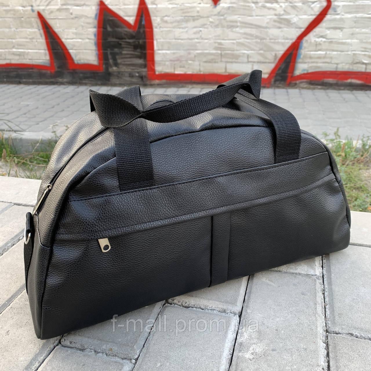 Женская спортивная сумка дорожная сумка из искусственной кожи Черный