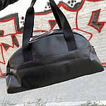 Женская спортивная сумка дорожная сумка из искусственной кожи Черный, фото 3