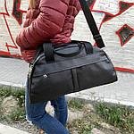 Женская спортивная сумка дорожная сумка из искусственной кожи Черный, фото 4