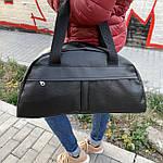 Женская спортивная сумка дорожная сумка из искусственной кожи Черный, фото 5
