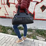 Женская спортивная сумка дорожная сумка из искусственной кожи Черный, фото 6