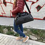 Женская спортивная сумка дорожная сумка из искусственной кожи Черный, фото 7