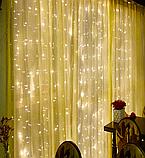 Гірлянда Завісу (Curtain) ПВХ 3x1.5м Внутрішня, фото 2