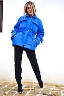"""Зимняя женская куртка на лебяжьем пуху """"Ksenia"""" с карманами"""