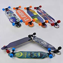 Скейт-лонгборд С 32020 6 6 видов, подшипник АВЕС-11, колёса PU, d7см - 186287