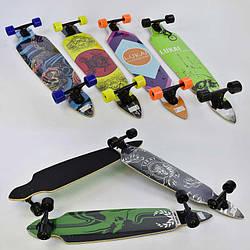 Скейт-лонгборд С 32021 6 6 видов, подшипник АВЕС-9, колёса PU, d7см - 186288