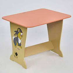 Стол - парта 6231 Зайчик - цвет розовый 1 Мася - 181692