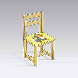 Стул Зайчик 4041 1 цвет желтый, Мася - 181723