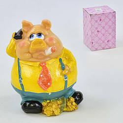 Сувенир Свинья-копилка 1 вид, керамическая, в коробке - 186433