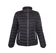 Куртка черная женская стеганая  Narvik ТМ Floyd под нанесение логотипов 100% нейлон набивка полиестер-перо