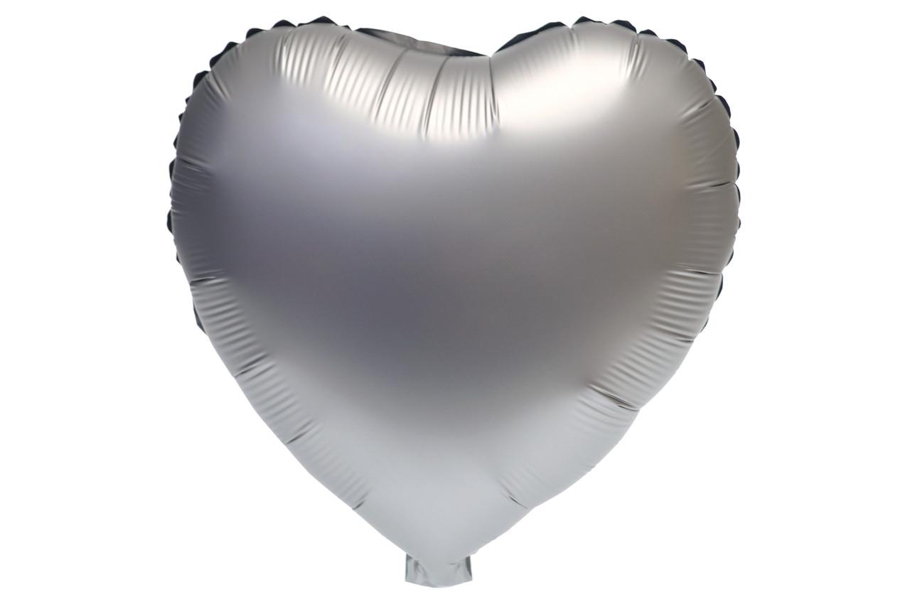 Сердце сатин Серое 43*43