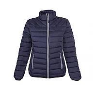 Куртка синяя женская стеганая  Narvik ТМ Floyd под нанесение логотипов 100% нейлон набивка полиестер-перо