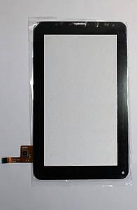 Сенсор (Тачскрин) для планшета GoClever TAB с вырезом под динамик (186x109mm) 12pin (Черный) Оригинал Китай