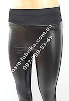 Модные женские леггинсы с кожей от производителя на флисе, фото 1