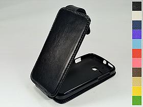 Откидной чехол из натуральной кожи для Alcatel 5020D One Touch M'Pop
