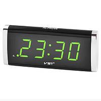 Настольные электронные часы VST 730-2 220V салатовые цифры