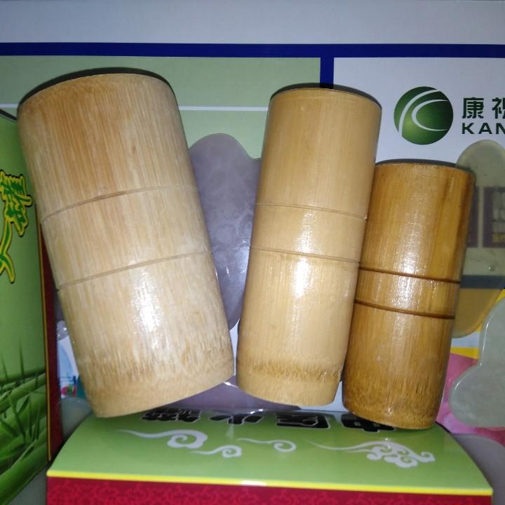 Бамбуковые массажные банки набор 3шт