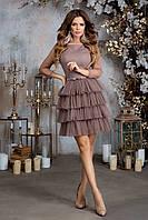 """Вечернее платье женское с красивой многоуровневой юбкой из сетки """"Марис"""" с 42го по 46 размер"""
